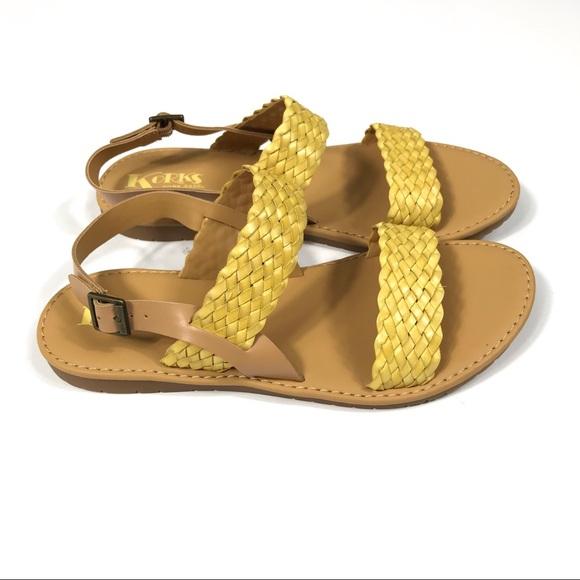 28a43b5e17ecf3 Kork-Ease Shoes - Korks by Kork-Ease Yellow Callista Braided Sandal